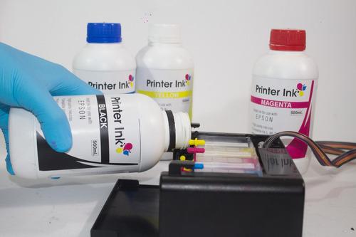 tinta pigmentada hp canon 120ml sistema continuo