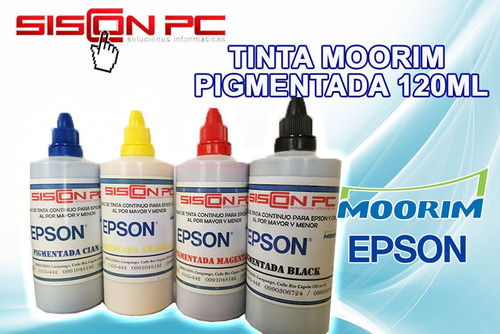 tinta pigmentada impresora epson moorim 120ml