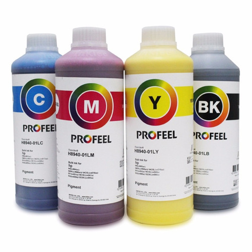 tinta pigmentada inktec p/ hp pro 7612 7610 7110 -4 litros