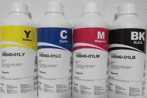 tinta pigmentada inktec p/ hp pro 8000 8100 8600 kit 4 cores