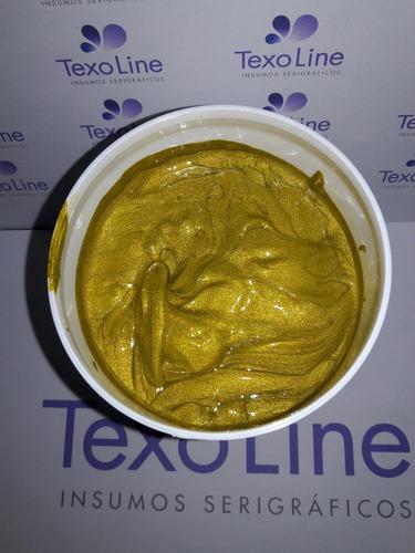 tinta plastisol shimmer oro cubritivo- texo line- avaxa
