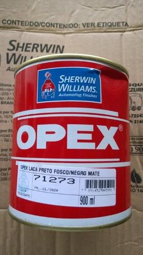 tinta preto fosco laca nitrocelulose opex 900 ml