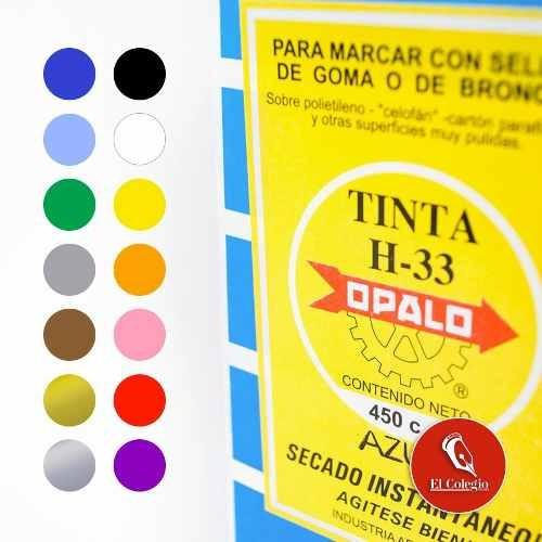 tinta sellos indeleble secado rapido opalo h33 x 450cc negro