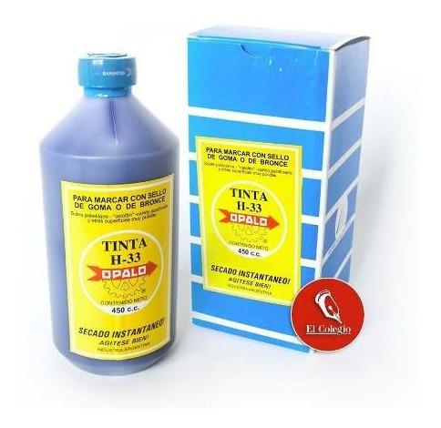 tinta sellos indeleble secado rapido opalo h33 x450cc x 3 un