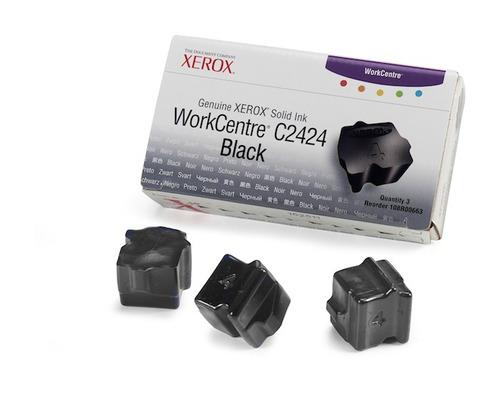 tinta solida xerox c2424 black num de partes 108r00662