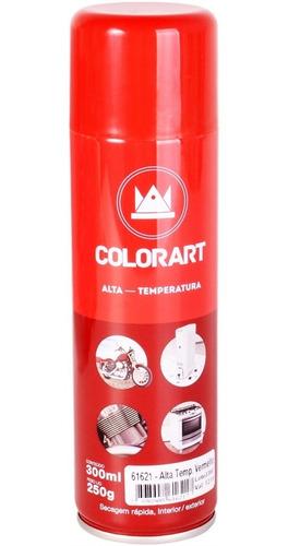 tinta spray alta temperatura vermelho  600ºc- colorart