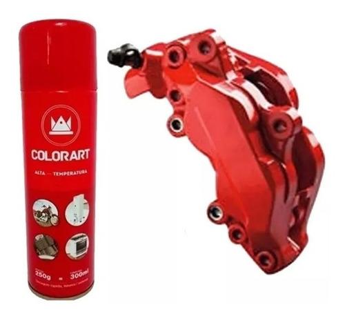 tinta spray alta temperatura vermelho motor pinça 600ºc