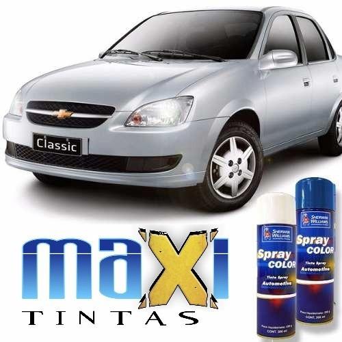 tinta spray automotiva gm prata polaris + verniz 300ml