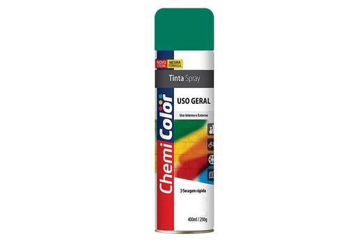 tinta spray chemicolor uso geral 400ml verde escuro - 43701