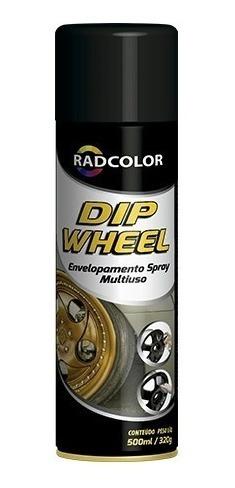 tinta spray dip weel envelopamento liquido radnaq 500ml
