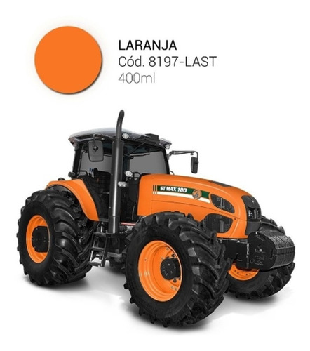 tinta spray p/máquinas,equipamentos agrícolas laranja(12 un)