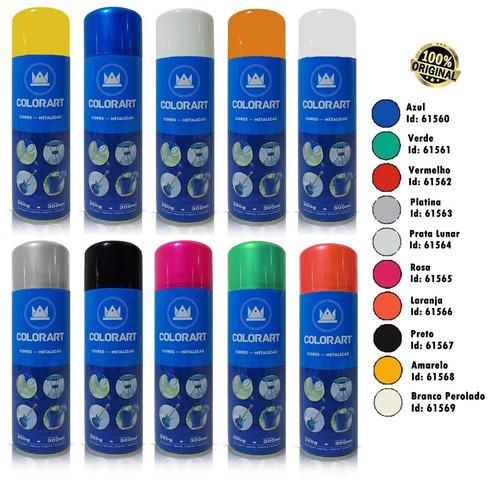 tinta spray prata lunar metálico colorart 300ml