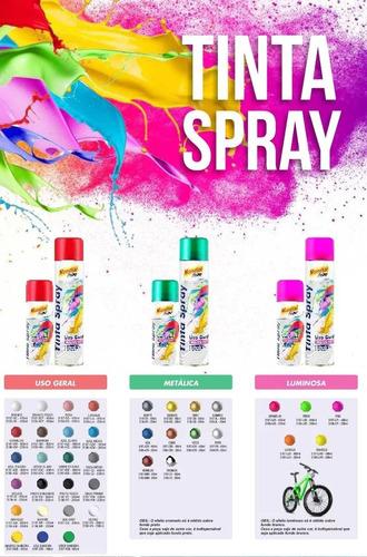 tinta spray preto brilhante 400ml mundial prime