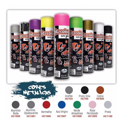 tinta spray uso geral e automotivo cx 6 - verde luminoso