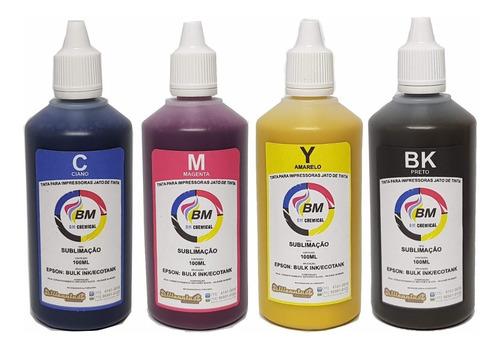 tinta sublimatica bm chemical original kit c/ 1000ml icc