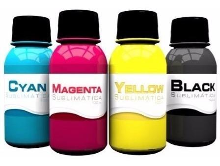 tinta sublimatica para transfer 400ml kit com 4 cores epson