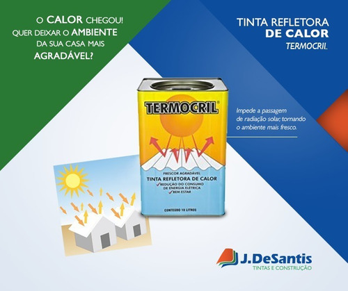 tinta termica redutora de calor p/ telhas termocril 18 l