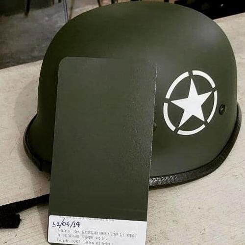tinta texturizada automotivo verde militar pu fosco  - 900ml