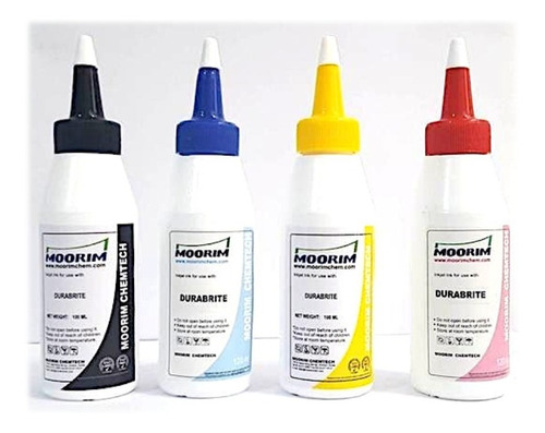 tinta transfer durabrite - moorim x 4 colores - envio gratis
