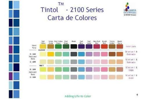 tinta universal concentrada tintol 50ml