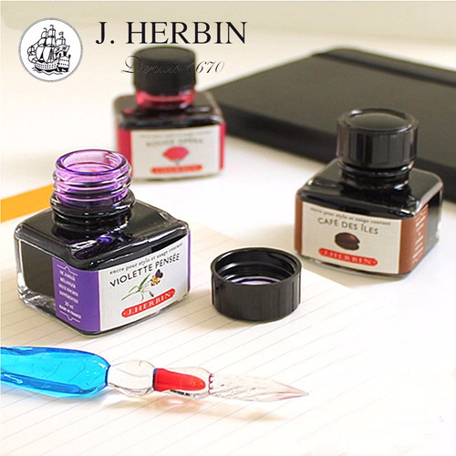 tinta x2 pluma fuente j.herbin edelstein- 30 ml