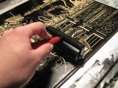 tinta xilografica para grabado 250grs