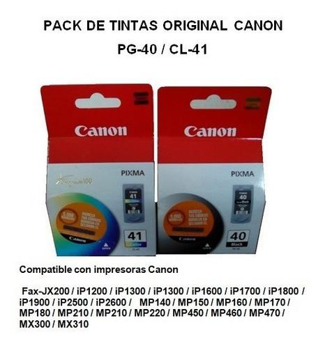tintas canon original pack pg-40/cl-41