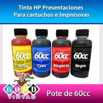 Tintas Hp Vivera Colores Y Negra (pote De 60 Cc)