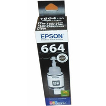 Tinta Original Epson Negra T664120 P/ L110/l120/l200/l210