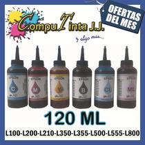 Tintas Epson L 120ml L110 L120 L200 L210 L350 L355 L555 L800