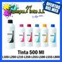 Tintas Epson 500ml L110 L120 L200 L210 L350 L355 L555 L800