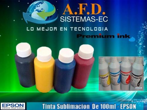 tintas de sublimación y tinta pigmentada 125ml ( durabrite)
