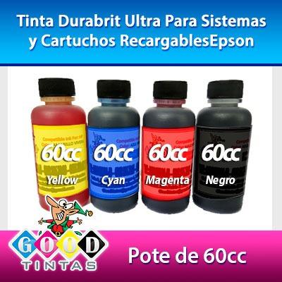 tintas durabrit ultra compatible con epson (pote de 60cc)