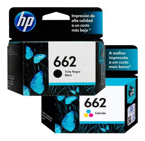 tintas hp 662 negros y colores