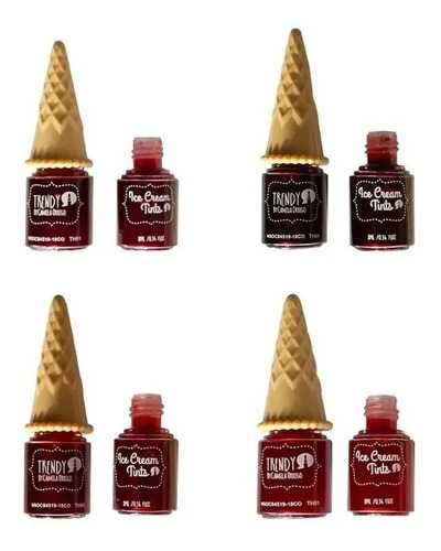 tintas para labios trendy - unidad - un - g a $8000