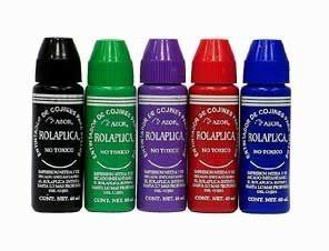 tintas sellos de goma 5 colores roll-on envío gratis