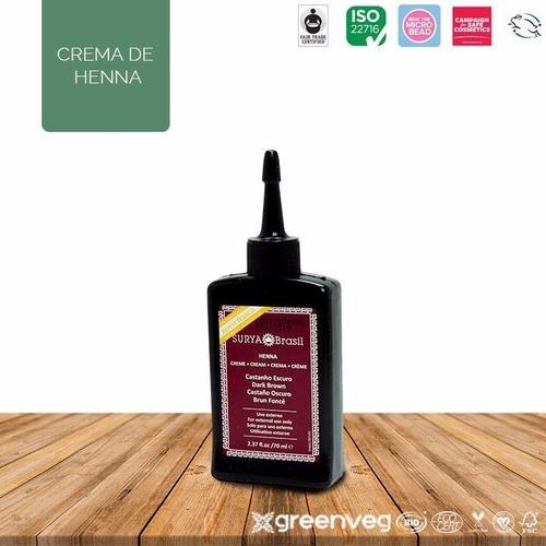 tinte castaño oscuro natural de henna orgánico y vegano