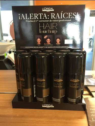 tinte corrector raices y canas touch up loreal spray castaño