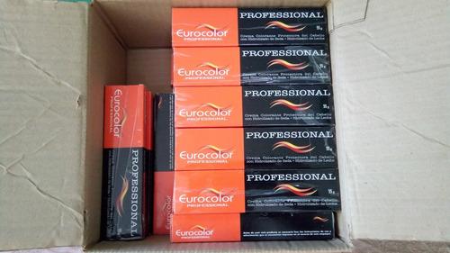 tinte en crema para cabello eurocolor  pack 3 unidades