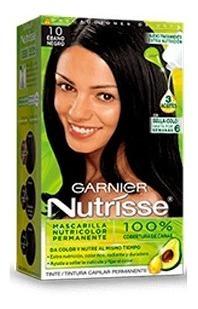 tinte para cabello tono 10 ebano garnier nutrisse