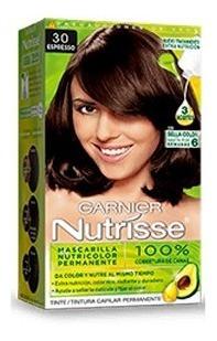 tinte para cabello tono 30 espreso garnier nutrisse