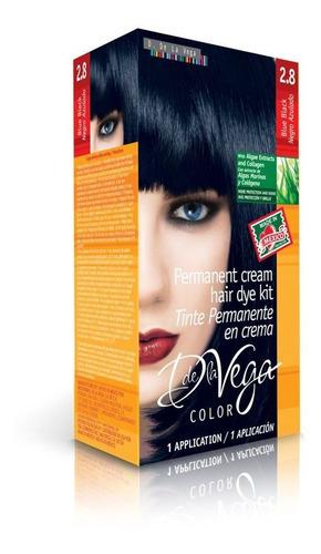 tinte permanente en crema, 2.8 negro azulado