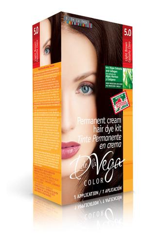 tinte permanente en crema, 5.0 castaño claro