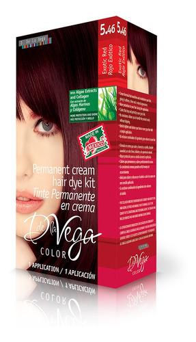 tinte permanente en crema, 5.46 rojo exotico