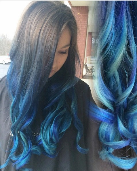 Tinte Splat Ombre Azul Tinte Permanente Splat Kit