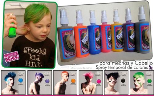 tinte temporal en colores para cabello-mechones ( en spray )