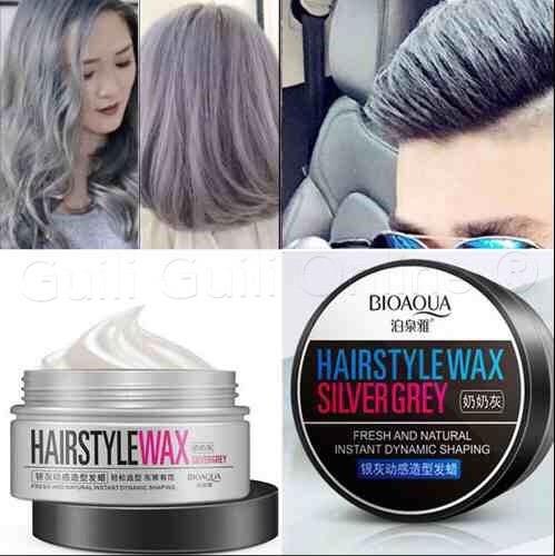 tinte temporal hairstyle cabello plata gris canas estilo