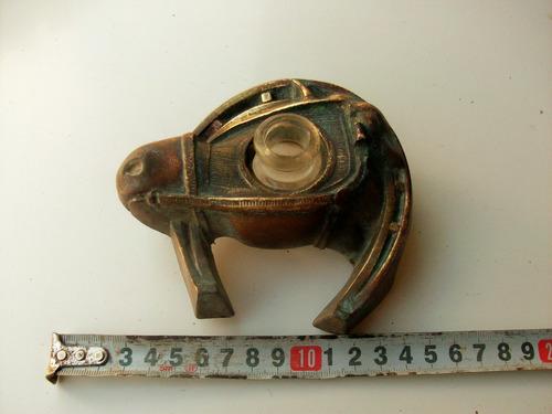 tintero antiguo bronce caballo herradura falta tapita