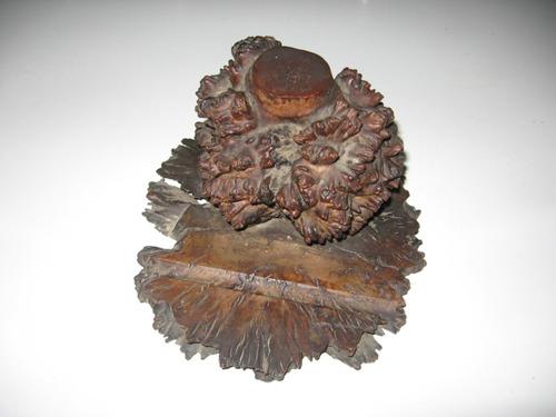 tintero de madera