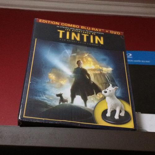 tintin box gift set com action figure do milu / raro import